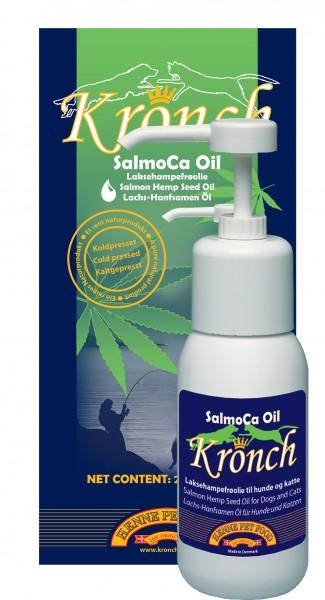 Lachs-Hanfsamenöl Kronch 250 ml für glänzendes Fell und starkes Immunsystem jetzt günstig kaufen