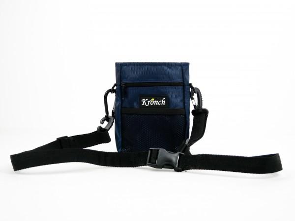 Hundesnack Tasche in blau mit Kordelzug von Kronch