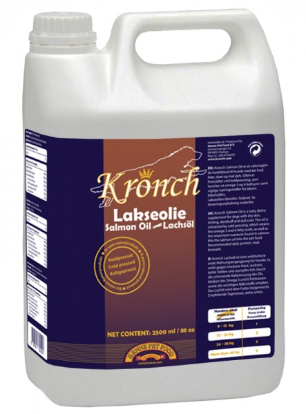 Kronch Lachsöl 2500 ml 100% reines kaltgepresstes Lachsöl