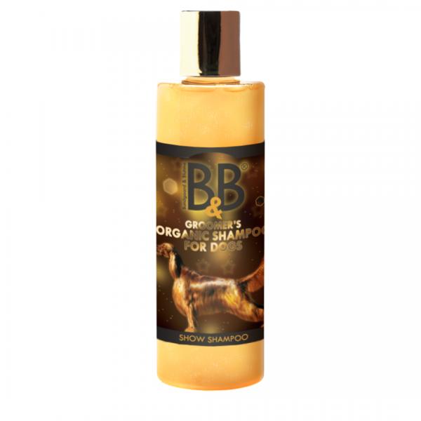 B&B Organic Show Shampoo 250 ml für glänzendes Fell Biologisches Hundeshampoo