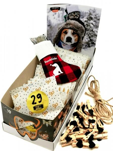 QCHEFS Adventskalender für Hunde natürliche Zahnpflege jetzt bestellen