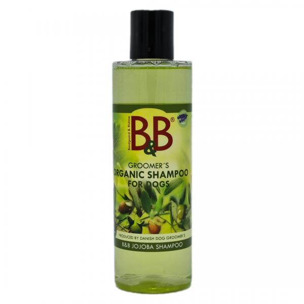 B&B Jojoba natürliches Hundeshampoo 250 ml mit Aloe Vera für sauberes Fell und schöne Haut