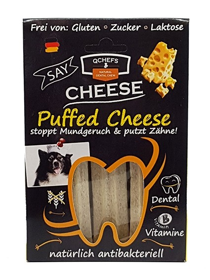 Puffed Cheese 3er QChefs • 3x Kauknochen bei Henne Pet Food