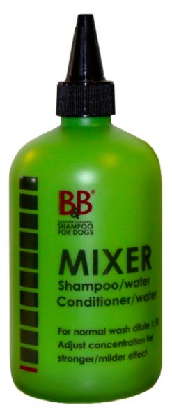 Mixflasche grün von B&B zum Verdünnen von Shampoo