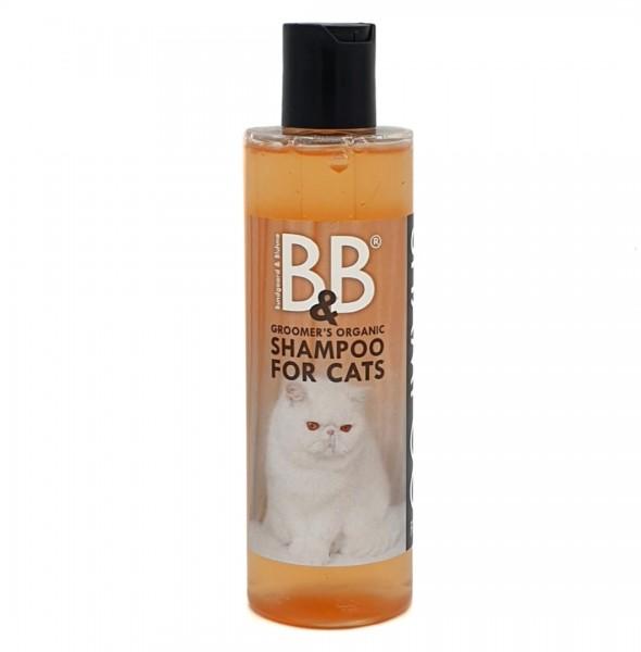 B&B ökologisches Katzenshampoo natürlich weiches und glänzendes Fell 250 ml